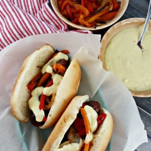 Grilled Brats + Beer Cheddar Jack Cheese