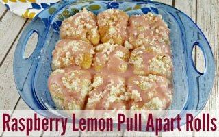 Raspberry Lemon Pull Apart Rolls