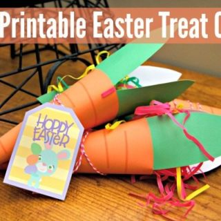 Free Printable Easter Treat Cones #JugglingActMama