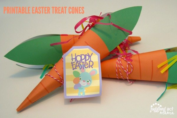 Free Printable Easter Treat Cones