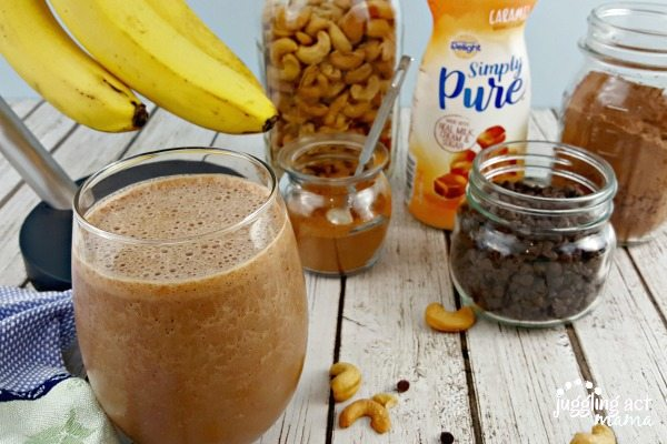 Salted Caramel Mocha Protein Smoothie #ad