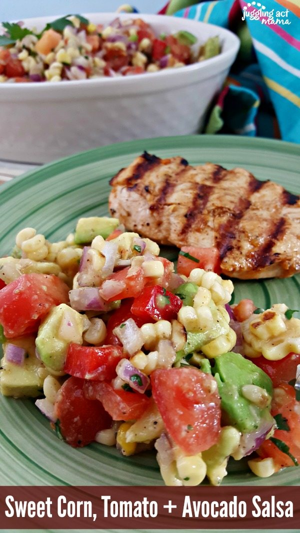 Sweet Corn, Tomato + Avocado Salsa #ad#SunshineSweetCorn #IC