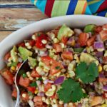 Sweet Corn, Tomato + Avocado Salsa Recipe #ad #IC