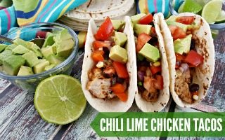 Chili Lime Chicken Tacos + Giveaway