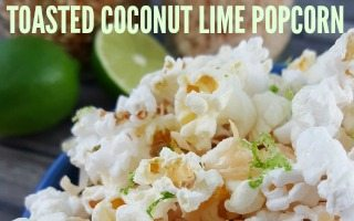 Toasted Coconut Lime Popcorn + Giveaway