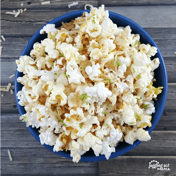 TOASTED COCONUT LIME POPCORN #AD