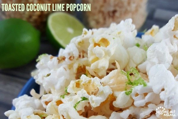 TOASTED COCONUT LIME POPCORN #BARLEANS #AD