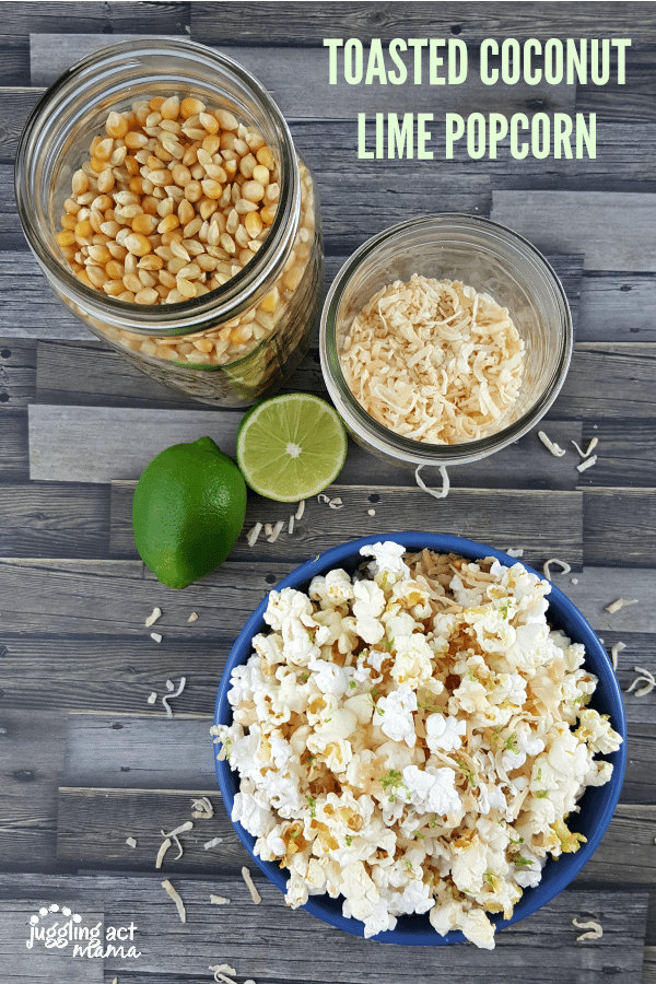 TOASTED COCONUT LIME POPCORN #AD #BARLEANS