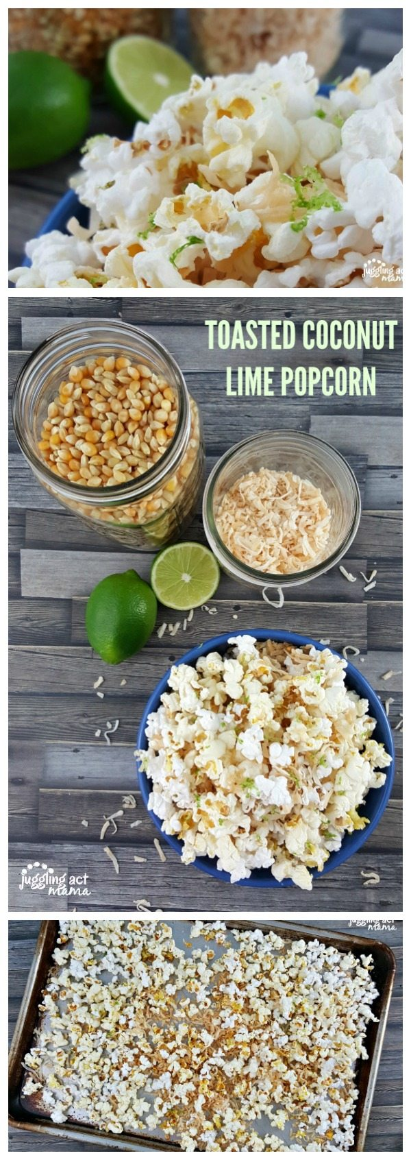 This Toasted Coconut Lime Popcorn will shake up your ho-hum popcorn routine #ad #Barleans #PopWithBarleans