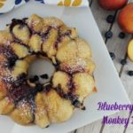 Blueberry Peach Monkey Bread #RhodesBread #ad