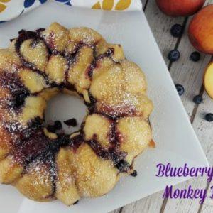 Blueberry Peach Monkey Bread #RhodesBread #ad