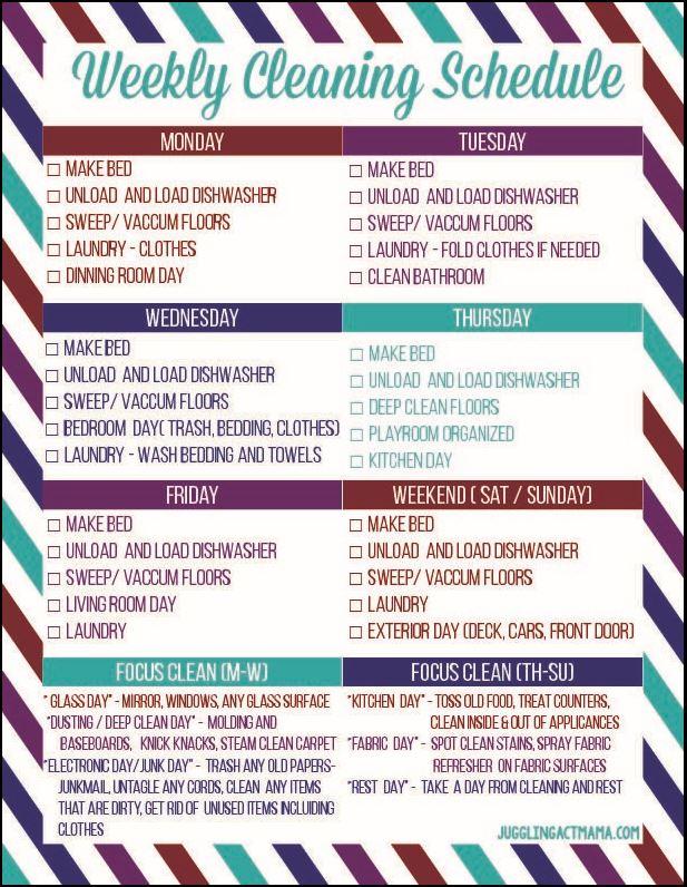 Chore Checklist Free Printable
