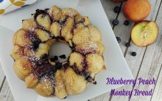 Blueberry Peach Monkey Bread