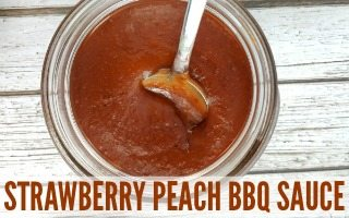 Strawberry Peach BBQ Sauce for Grilling Season