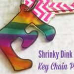Shrinky Dink Initial Key Chain Project