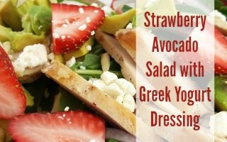 Strawberry Avocado Salad + Greek Yogurt Dressing