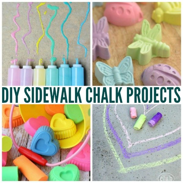 Fun DIY Sidewalk Chalk Projects