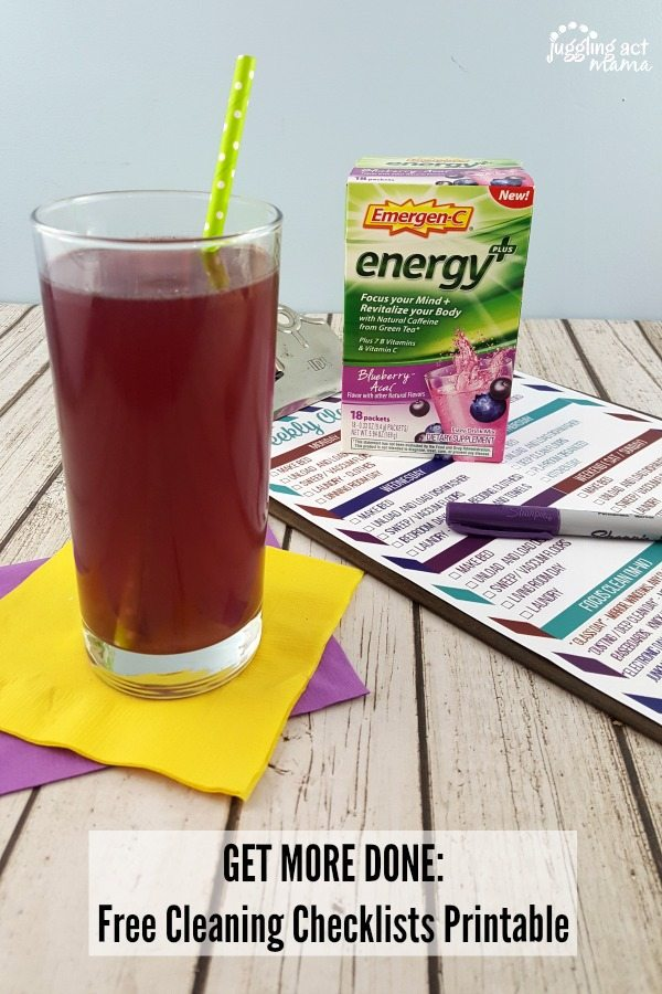 Get organized and get more done wtih Emergen-C Energy + and these free printables #ad