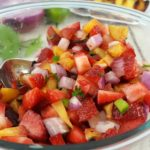 Grilled Strawberry Peach Salsa #ad #Smithfield