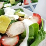 If you're looking for the perfect summer salad, try this Strawberry Avocado Salad with Greek Yogurt Dressing #ad #Stonyfield