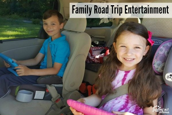 It's easy to keep everyone happy when you plan Family Road Trip Entertainment #ad