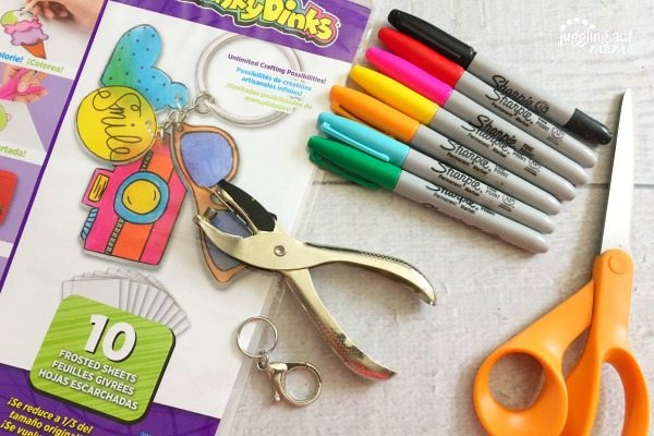 Our Shrinky Dink Initial Key Chain Project is a fun rainy day project and makes a sweet little gift, too!