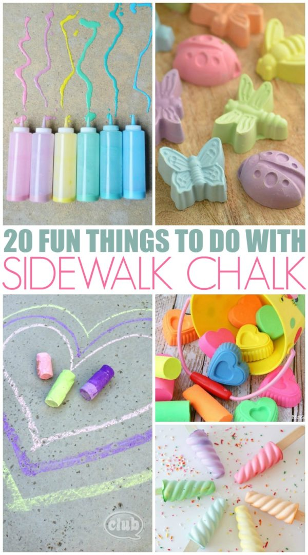 DIY Sidewalk Chalk projects #BoredomBuster #SummerFun