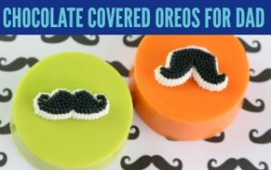 Chocolate Covered Oreos for Dad