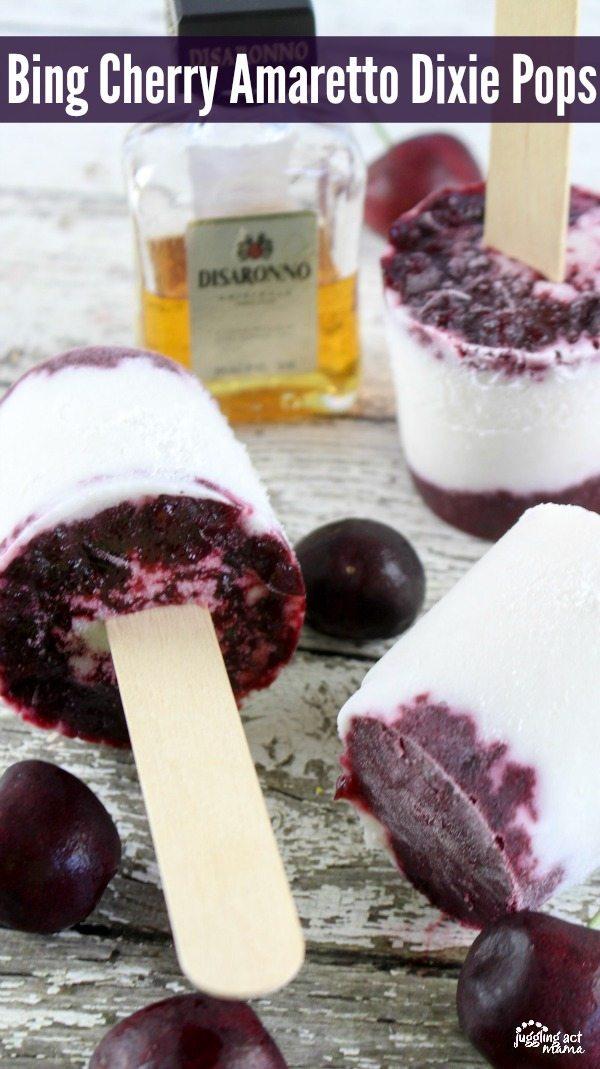 Bing Cherry Amaretto Dizie Pops