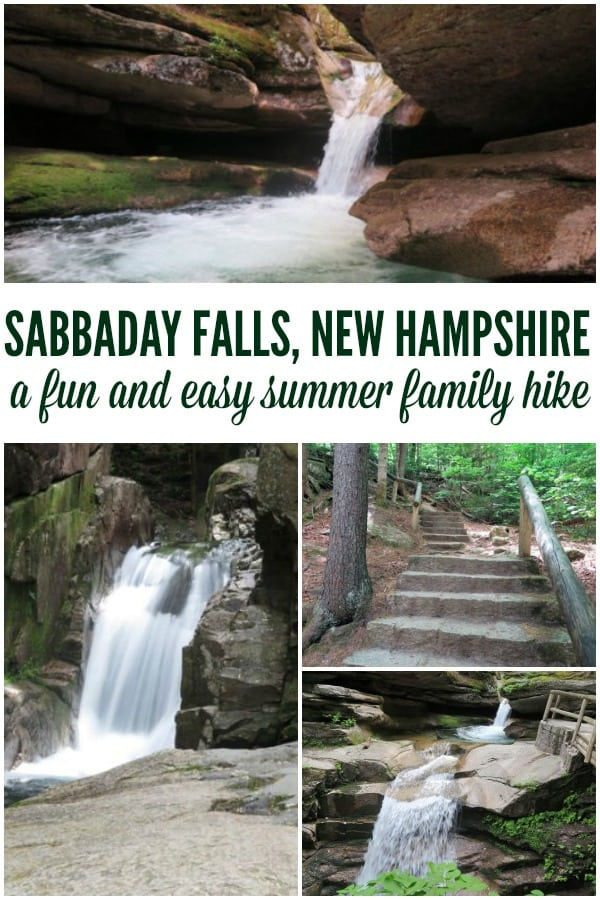 Sabbaday Falls in NH is an easy summer family hike