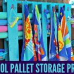 Simple DIY Pallet Pool Storage