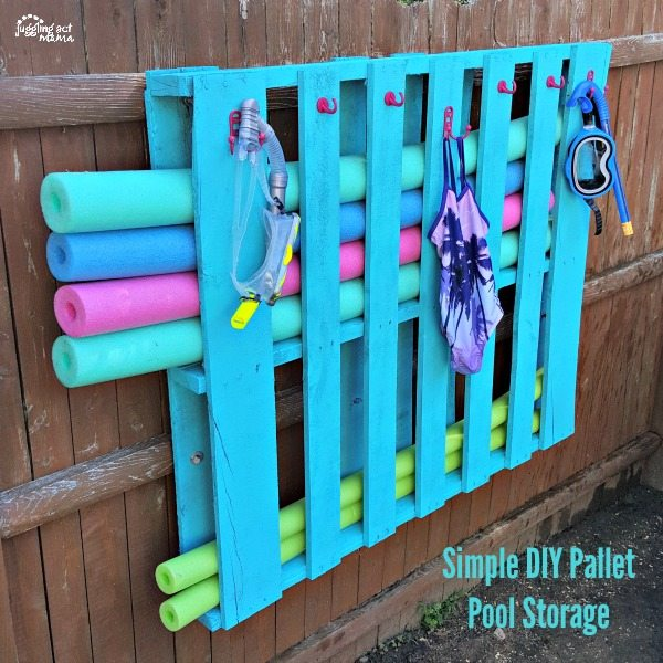Simple #DIY Pallet Pool Storage