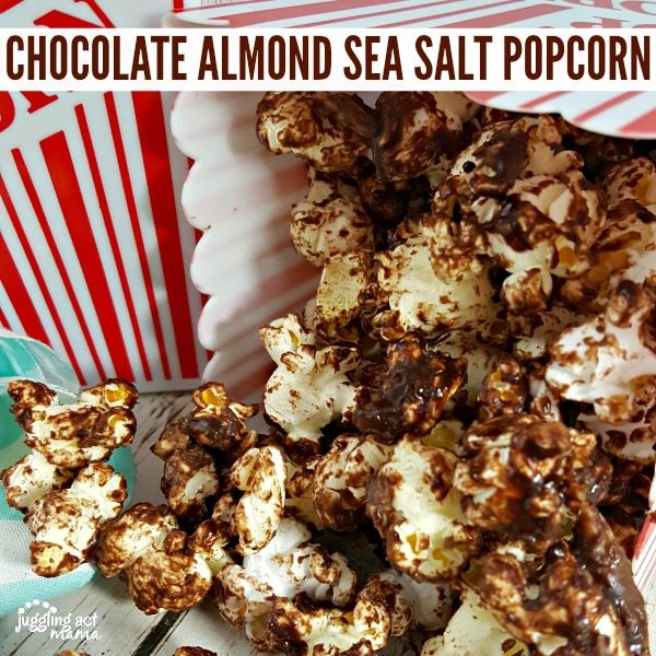 CHOCOLATE ALMOND SEA SALT POPCORN #ad