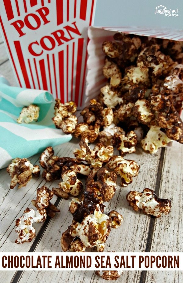 CHOCOLATE ALMOND SEA SALT POPCORN #ad #Verizon #FIOSBoston