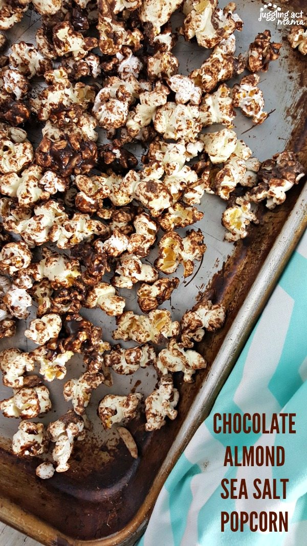 CHOCOLATE ALMOND SEA SALT POPCORN #ad FIOSBoston