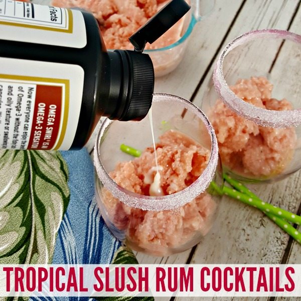 TROPICAL SLUSH RUM COCKTAILS #ad