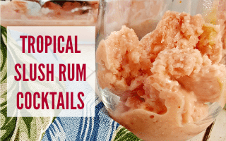 Tropical Slush Rum Cocktails