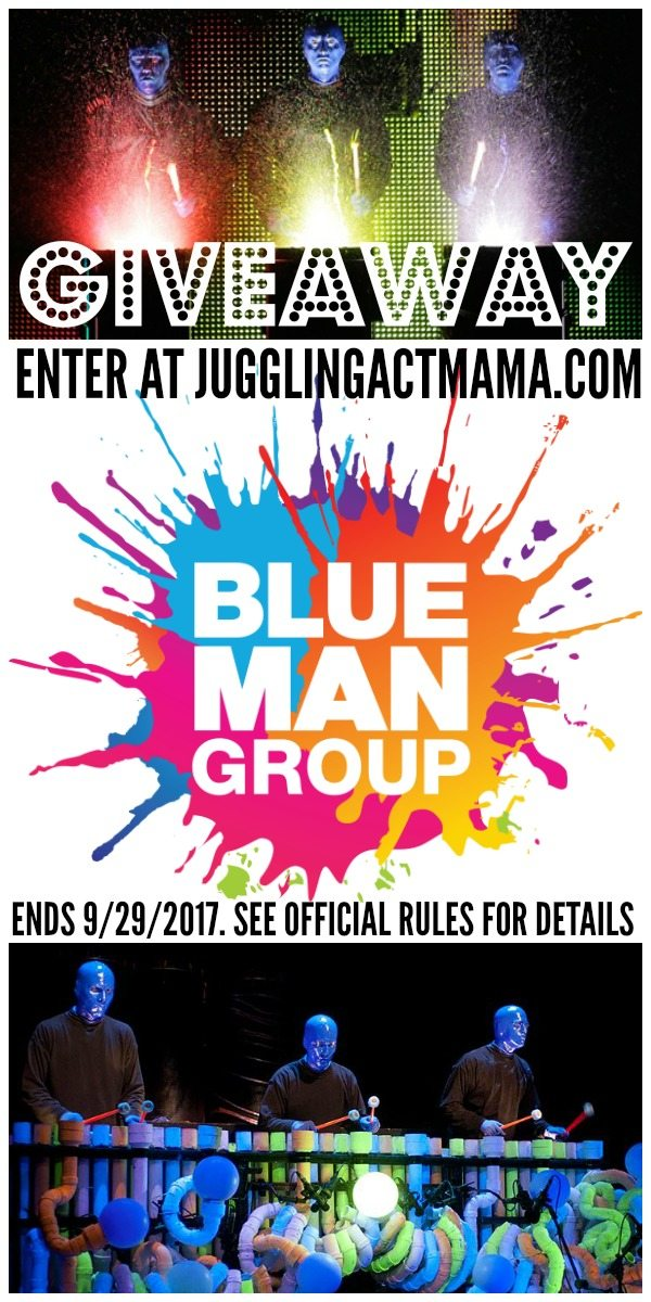 Blue Man Group Ticket Giveaway - ends Sept 29 2017