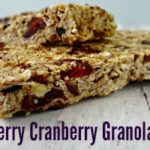 Blueberry Cranberry Granola Bars