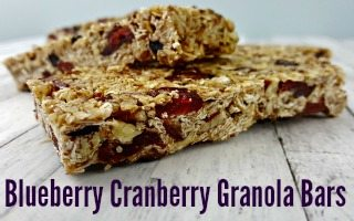 Blueberry Cranberry Granola Bars Recipe