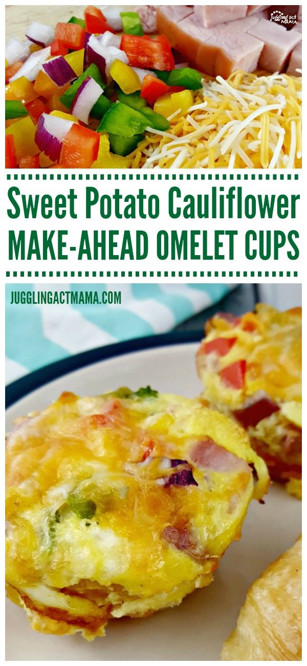 Make-Ahead Sweet Potato Cauliflower Omelet Cups #ad #GGveggie