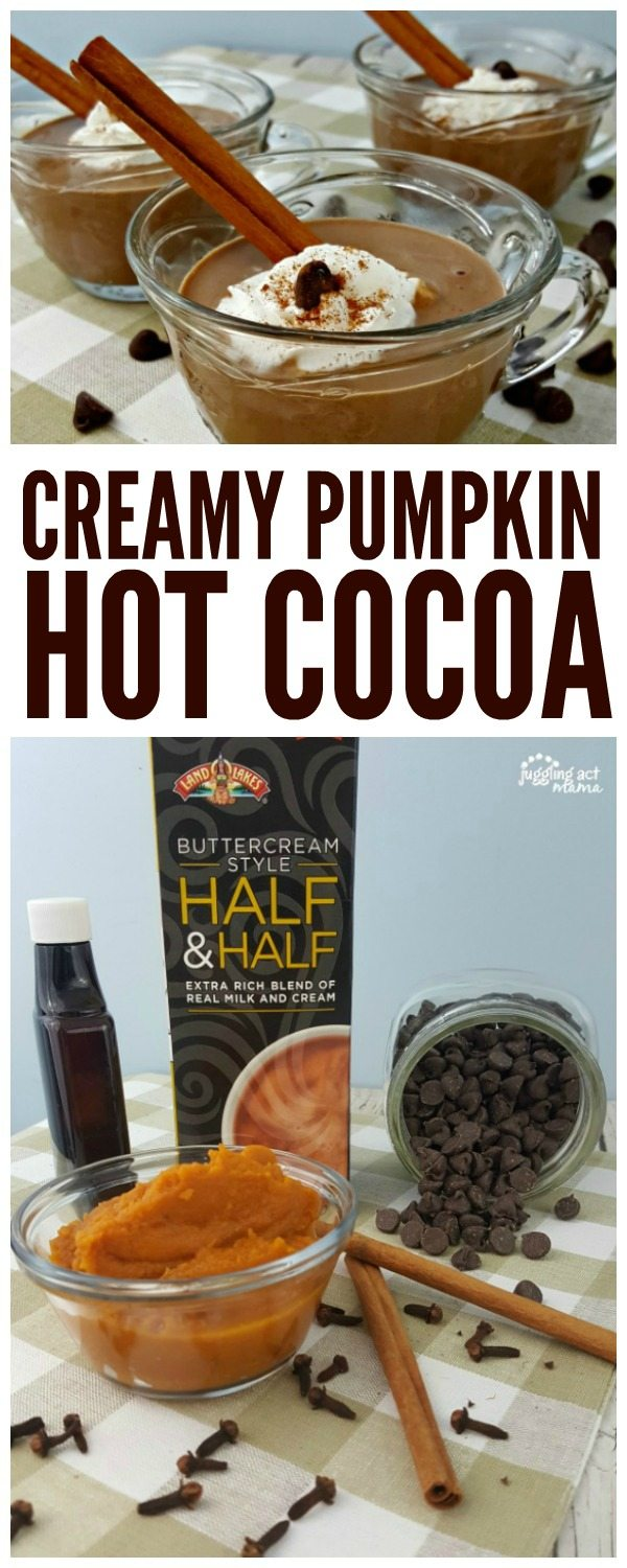 Our decadent Creamy Pumpkin Hot Cocoa is perfect for Fall entertaining #ad #IndulgenceDoneRight #CollectiveBias