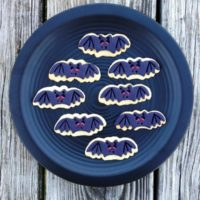 Spooky Bat Sugar Cookies for Halloween