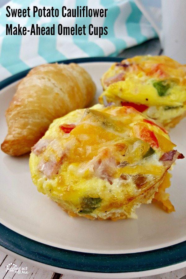 Sweet Potato Cauliflower Omelet Cups #ad #GGVeggie