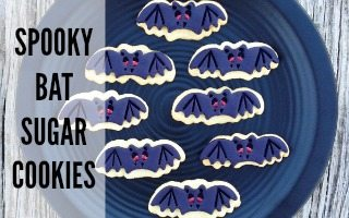 Spooky Bat Sugar Cookies