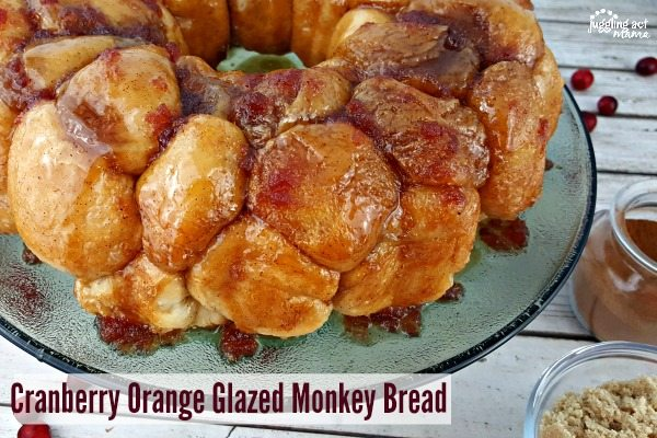 Cranberry Orange Glazed Monkey Bread