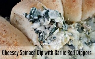 Cheesey Spinach Dip with Garlic Roll Dippers