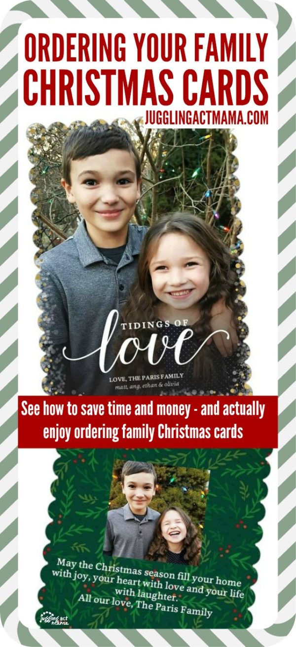 Ordering Family Christmas Cards - how to save time and money - and actually enjoy ordering family Christmas cards this year #ad #MyShutterfly