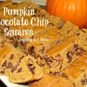 Pumpkin Chocolate Chip Bars