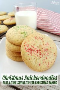 Christmas Snickerdoodles - plus a time saving tip for Christmas baking